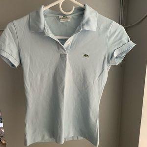 Lacoste Women's Light Blue Polo Knit Top